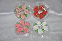 """Сахарное украшения для торта """"Розы"""" средние"""