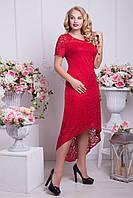 Женское летнее платье Саманта красный (48-54)