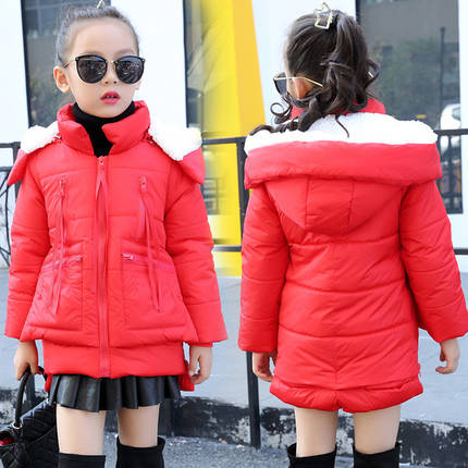 Дитяче пальто червоне, фото 2