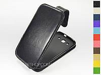 Откидной чехол из натуральной кожи для Samsung i9305 Galaxy S3 Duos