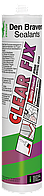 Den Braven CLEAR FIX 290мл Гибридный клей-герметик эластичный <прозрачный>