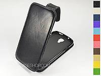 Откидной чехол из натуральной кожи для Samsung i9500 Galaxy S4