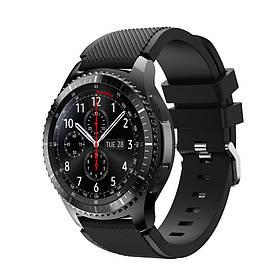 Силіконовий ремінець Primo для годин Samsung Gear S3 Classic SM-R770 / Frontier RM-760 - Black