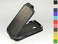 Откидной чехол из натуральной кожи для Samsung s7562 Galaxy S Duos