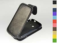 Откидной чехол из натуральной кожи для Samsung s6802 Galaxy Ace Duos, фото 1