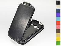 Откидной чехол из натуральной кожи для Samsung s7710 Galaxy xCover 2