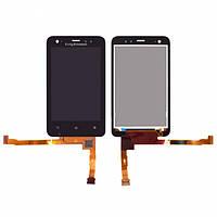 Дисплей (экран) для Sony Ericsson ST17i Xperia Active + с сенсором (тачскрином) черный