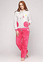 """Женская пижама """"Wild Love"""",Турция,с длинным рукавом и капюшоном"""