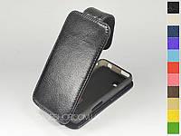 Откидной чехол из натуральной кожи для Samsung s5250 Wave 525