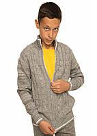 Детская вязаная кофта Джейкоб на мальчика подростка, р.122-152