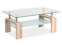 Журнальный столик Lisa Basic II (дуб сонома, венге)