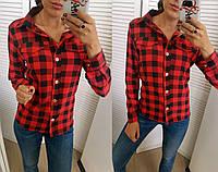 Блуза женская ,Ткань котон-бордо, белый, лен-розовый и полоска, джинс-голубой, супер софт-клетка сопт№182-160