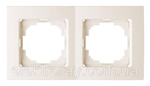 Двойная рамка Nilson Touran крем, фото 2