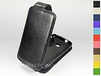 Откидной чехол из натуральной кожи для Samsung s5380 Wave Y