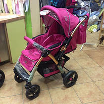 Коляска прогулочная Baciuzzi B8.4 Pink с сумкой