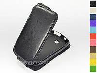 Откидной чехол из натуральной кожи для Samsung s5570 Galaxy mini