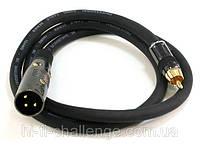 XLR ( папа ) -RCA межблочный кабель Monoprice 0.9 метра, фото 1