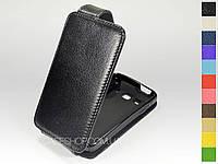 Откидной чехол из натуральной кожи для Samsung s5690 Galaxy Xcover