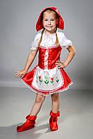 Детский Карнавальный костюм Красная шапочка с платьем