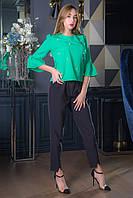 Блузка Бусинка зеленый