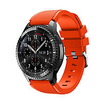 Силиконовый ремешок для часов Samsung Gear S3 Classic SM-R770 / Frontier RM-760 - Orange