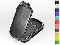 Откидной чехол из натуральной кожи для Samsung s6012 Galaxy Music Duos