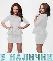 Лаконичное и стильное платье футляр с баской на талии Catchweed