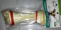 Кость ПЕСиК для собак узловая малая, сыромятная кожа, 14-15 см