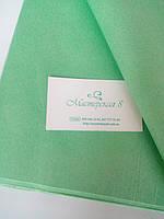Тишью зелёная нежная, салатовая  50*65 см , бумага папирусная для декора и помпонов