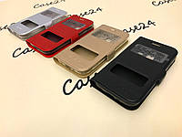 Кожаный чехол книжка Momax для Samsung Galaxy J1 mini SM-J105 (4 цвета)