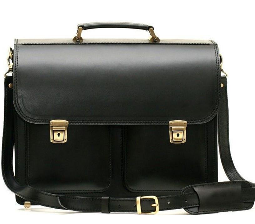 Мужской кожаный портфель PDV-2BLACK