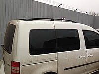 Рейлинги на крышу с пластиковыми креплениями Volkswagen Caddy 2004-2015 КОРОТКАЯ БАЗА, цвет черный
