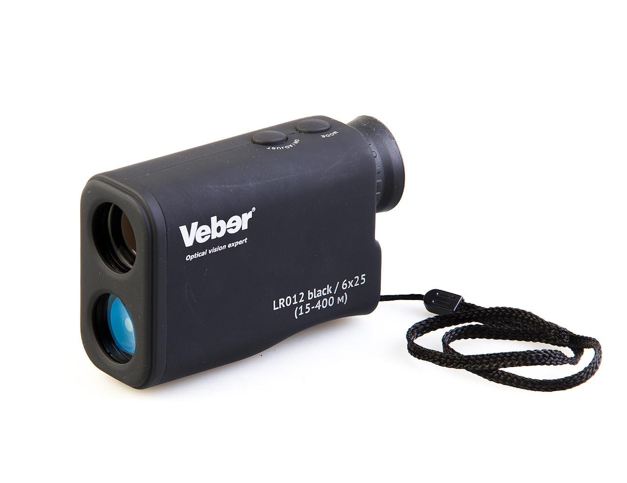 Лазеный дальномер Veber LR012/6*25 black (15-400м)