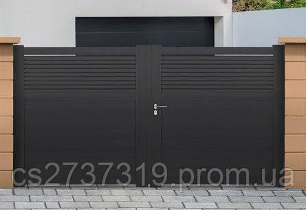 Современные распашные ворота для дачи стиля Modern.