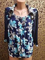 Шикарная блуза в крупные цветы