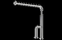 Г- образный поручень с доп. ножкой, для людей с ограниченными возможностями  Ø32, размер 75*75*30 см.