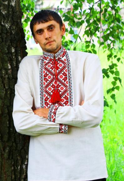 """Мужская вышиванка """"Иван"""" с длинным рукавом"""