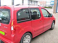 Рейлинги на крышу с пластиковыми креплениями Citroen Berlingo 2008- / Peugeot Partner 2008- короткая и длинная база, под хром (полированный алюминий)