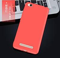 Чехол для Xiaomi redmi 4А силиконовый матовый Красный