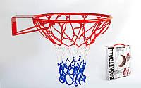 Кольцо баскетбольное (d кольца-46,5см, d трубы-12мм, в ком.кольцо-металл, сетка-нейлон,болты)