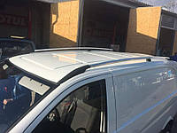 Рейлинги на крышу с пластиковыми креплениями Mercedes-Benz Vito /  Viano W639 COMPACT 2004-2014 КОРОТКАЯ БАЗА под хром (полированный алюминий)