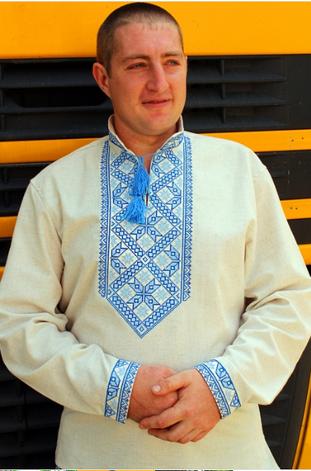 """Мужская вышиванка """"Иван"""" с длинным рукавом, фото 2"""