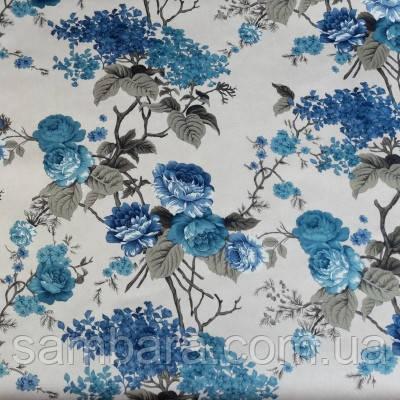 принт велюр нирвана голубая сирень nirvana blue lilac