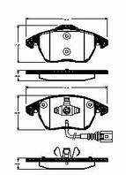 Remsa колодки передние (С датчиком износа) RS 1030.01