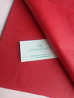 Тишью красная 50*65 см , бумага папирусная для помпонов и декора