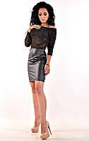 Чёрное женское платье от производителя, фото 1