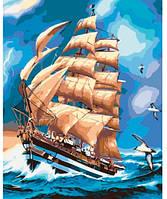 Во время грозы, Серия Морской пейзаж, рисование по номерам, 40 ? 50 см, Идейка (КН2712)