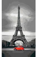 Париж, Серия Городской пейзаж, рисование по номерам, 30 ? 50 см, Идейка (КН2147)
