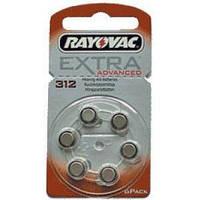 Батарейка RAYOVAC ZA312 bat(1.4B) Zinc Air 6шт (для слуховых аппаратов)