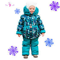 Детский зимний костюм куртка и комбинезон для девочки